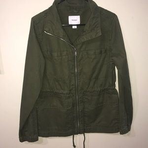 A olive green jacket from old navy!